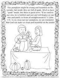 Pumpkin Carving Coloring Page With Verses 2
