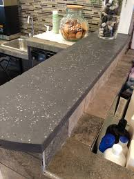 100 Countertop Glass Charcoal Black Concrete Countertop With Mirrored Glass