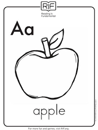 Trendy Design Toddlers Coloring Pages A Is For Apple