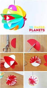 Paper Planets Are A Simple Planet Craft That Introduces Kids To The Magic Of Turning Material Into Object