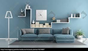 stockfoto 19216887 blau wohnzimmer