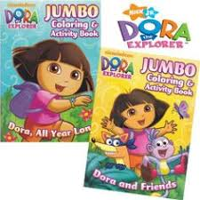 Nickelodeon Jumbo Assorted Dora The Explorer Activity And Coloring Book 1pc