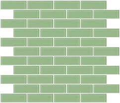 glass tile 1x3 inch retro mint green frosted glass subway tile