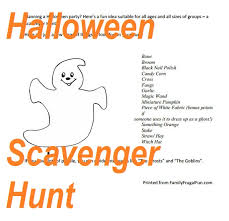 Easy Halloween Scavenger Hunt Clues by Halloween Hunt Clues Images