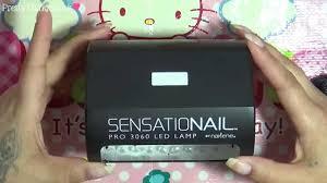 sensationail led l unboxing only youtube
