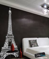 Paris Eiffel Tower Bathroom Decor by Awesome Eiffel Tower Super Large Vinyl Black Or White Wall Decal