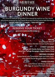 cours de cuisine etienne meritage restaurant and wine bar hosts burgundy wine dinner 04 27 18