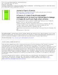 Uv B Lamp For Vitamin D Uk influence of vitamin d mushroom powder supplementation on exercise