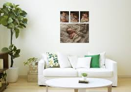 Canvas Wall Gallery Cluster Hudson Valley Newborn Baby Photographer Cornwall NY Photo Studio