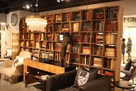 Rustic Bookshelves With Wave Design