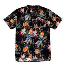 100 Coco Republic Sale Mens Hibiscus Bloom Opencollar Shirt In Black
