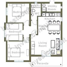 Impressive Small Three Endearing 3 Bedroom House Plans