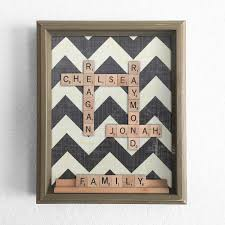 Printable Individual Scrabble Tiles by In Stock Chevron Scrabble Shadow Box Personalized Anniversary