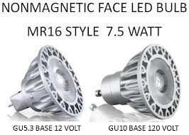 led bulb with nonmagnetic mr16 style with a 25 36 or 60