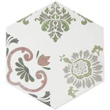 Home Depot Floor Tiles Porcelain by Merola Tile Eterno Carrara Hex 8 5 8 In X 9 7 8 In Porcelain