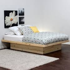 Alsa Queen Platform Bed by Cool Platform Beds Including Rustic Wood Bed Frame Ideas Picture