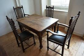 antik alt esszimmer tisch tafel gruppe 4 stühle biedermeier