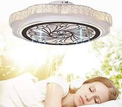 qjuzo deckenventilator mit beleuchtung led dimmbar kristall deckenleuchte deckenventilator mit fernbedienung leise wohnzimmer schlafzimmer