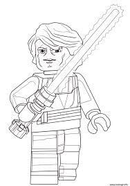 Coloriage Lego Star Wars Anakin Skywalker JeColoriecom