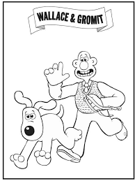 Pursuing Wallace Gromit Coloring Picture For Kids