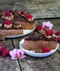 nutella cheesecake mit himbeeren