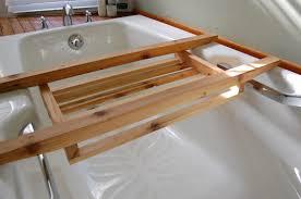 Bathtub Caddy With Reading Rack by Bathroom Interesting Bathtub Caddy With Book For Elegant Soaking