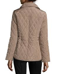 MICHAEL Michael Kors Quilted Button Front Jacket Truffle