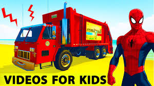 Funny Garbage Truck And SPIDERMAN Cartoon Cars For Kids With ... Heil 7000 Garbage Truck St Petersburg Sanitation Youtube Song For Kids Videos Children Kaohsiung Taiwan Garbage Truck Song The Wheels On Original Nursery Rhymes Road Rangers Frank Ep Garbage Truck Spiderman Cartoon Trash Taiwanese Has A Sweet Finger Family Daddy Video For Car Babies Trucks Route In Action First Gear Freightliner M2 Mcneilus Rear Load