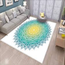 Amazoncom Mandala Area Rugs For Bedroom Aquatic Color Mandala