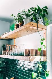 Beautiful Kitchen Corner I Love The Green Glazed Tiles Which Go Perfectly With Theindoor Plants