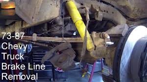 100 Chevy Truck Brake Lines 19731987 HowTo Remove Front Hoses And A Look At ORDs Extended