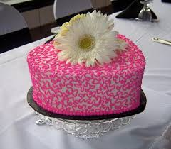Black & White Pink Head Table Centerpiece Wedding Cake