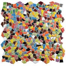 Home Depot Merola Penny Tile by Merola Tile Jazz Multi 11 1 4 In X 11 1 4 In X 5 Mm Ceramic