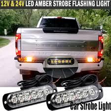 100 Truck Strobe Lights 12V24V LED Amber 18W Bar Car Flash Emergency Hazard