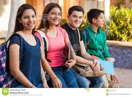 100 Groupo Hanging Out At School Stock Image Image Of Education 41816133