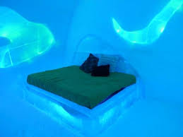 Northern lights bedroom theme Picture of Hotel de Glace Quebec