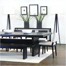 Small Dining Table With Bench Black Skinny