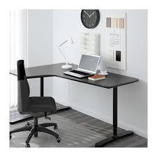 bekant corner desk left birch veneer black ikea