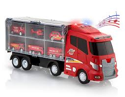 100 Metal Fire Truck Toy Amazoncom Advanced Play Transport Car Carrier Truck Toys For Boys