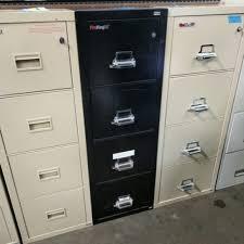 fireking 25 4 drawer vertical fireproof file cabinet safe black