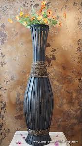 große bambus bodenvase wohnzimmer dekoration diy