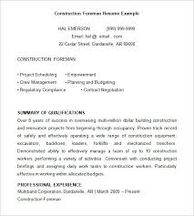 8 Construction Resume Templates
