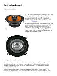 100 Best Truck Speakers Date5801884f1987a323910464pdf Car Loudspeaker