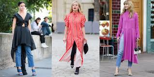 dresses over jeans the latest street style