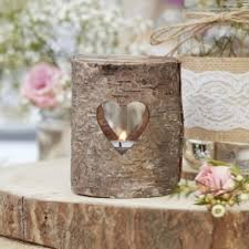 Rustic Wooden Heart Tealight Candle Holders