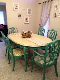 Antique 1960s Turquoise Dining Table And Chairs / Painted ... How To Transform A Vintage Ding Table With Paint Bluesky Pating My Antique Six Edwardian French Painted Chairs 364060 19th Century Country Set Of 6 Balloon Back Good 1940s Faux Bamboo Eight 1920s Pair Regency 2 Side White Chippy Chair Early 20th Louis Xvi Chairsset 8 Abc Carpet Home Style Fniture And European Buy Cheap Punched Wood Handpainted