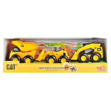 CAT Mini Take-A-Part Trucks 3-Pack - Toy State - Toys