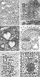 Free Doodle Coloring Pages Arttherapy