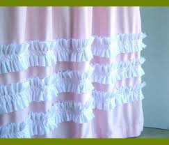 Light Pink Ruffle Blackout Curtains by Sweet Pink Ruffle Curtains For Young Girls U0027 Room Naindien