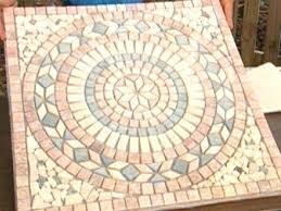 tiling a foyer tips on installing medallions on tile flooring diy